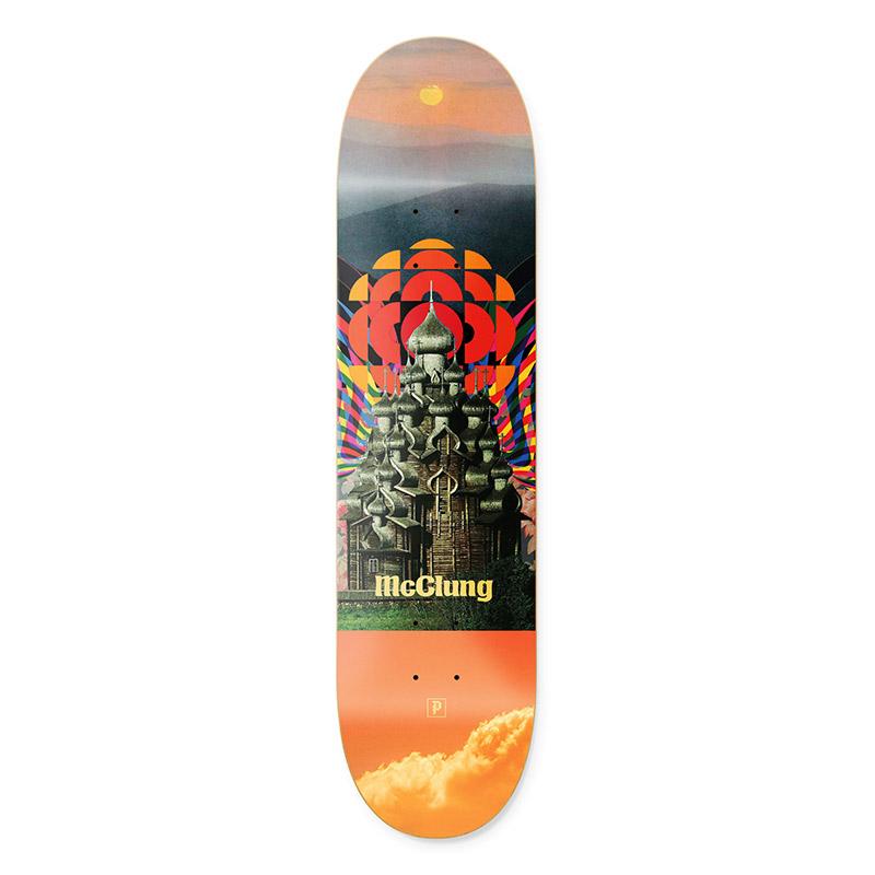 Primitive McClung Temple Skateboard Deck Multi 8.25