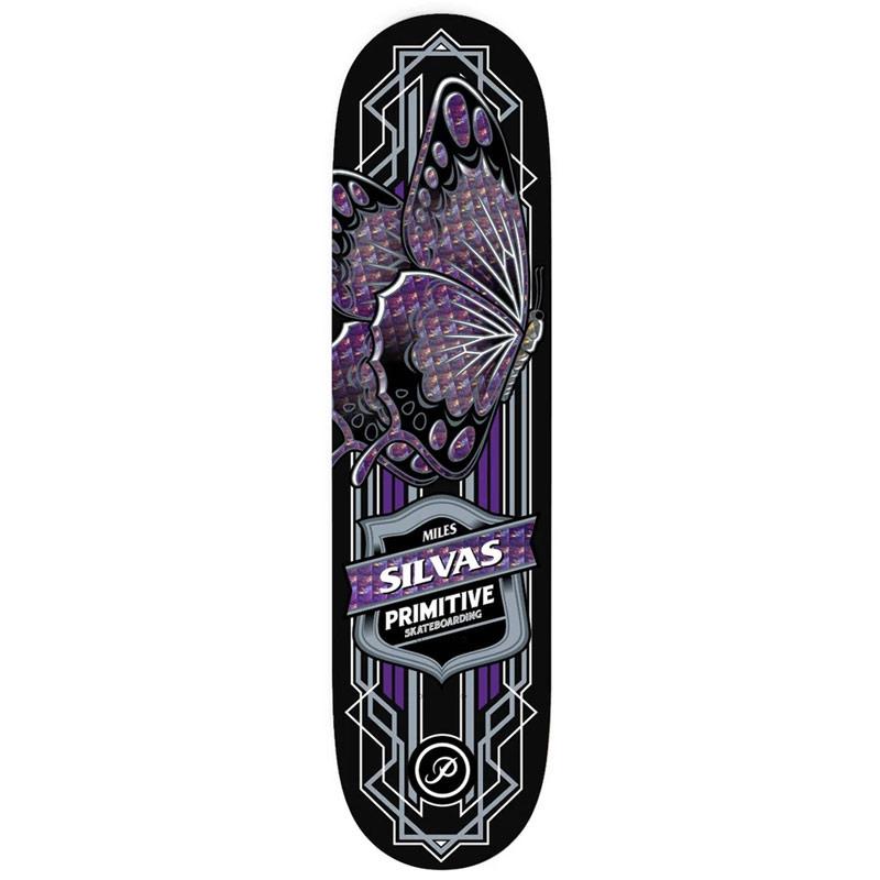 Primitive Miles Silvas Butterfly Skateboard Deck Black 8.0