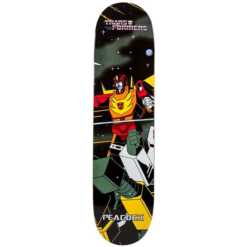 Primitive Peacock Hot Rod Skateboard Deck 8.0
