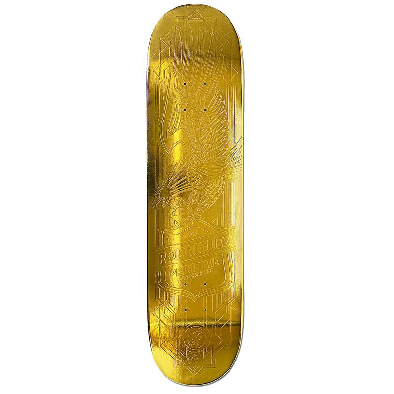 Primitive Rodriguez Gold Foil Eagle Skateboard Deck 8.125