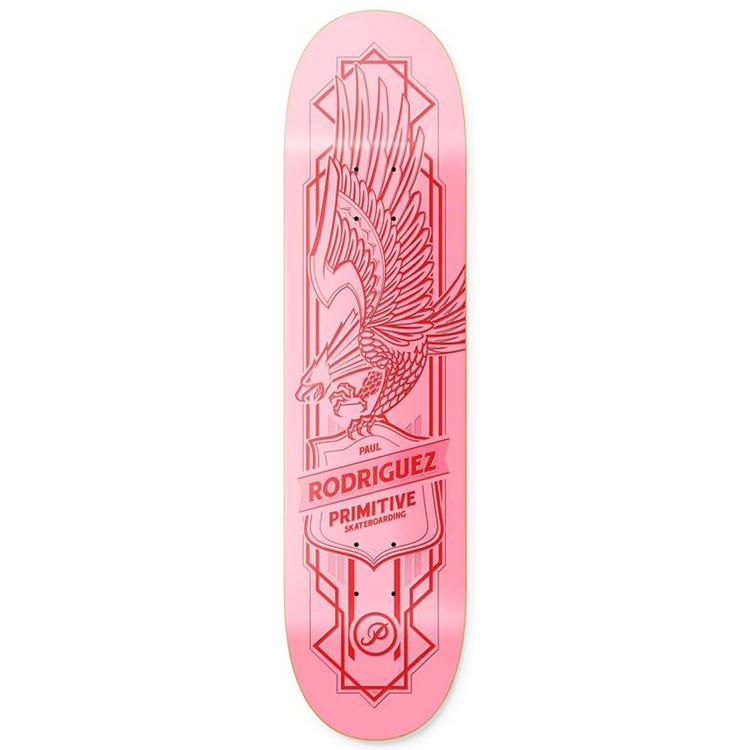 Primitive Rodriguez Heartbreakers Pink Skateboard Deck 8.25
