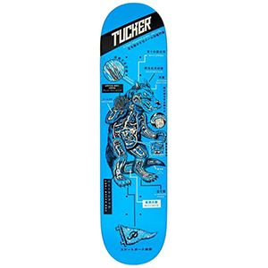 Primitive Tucker Kaiju Skateboard Deck Blue 8.5