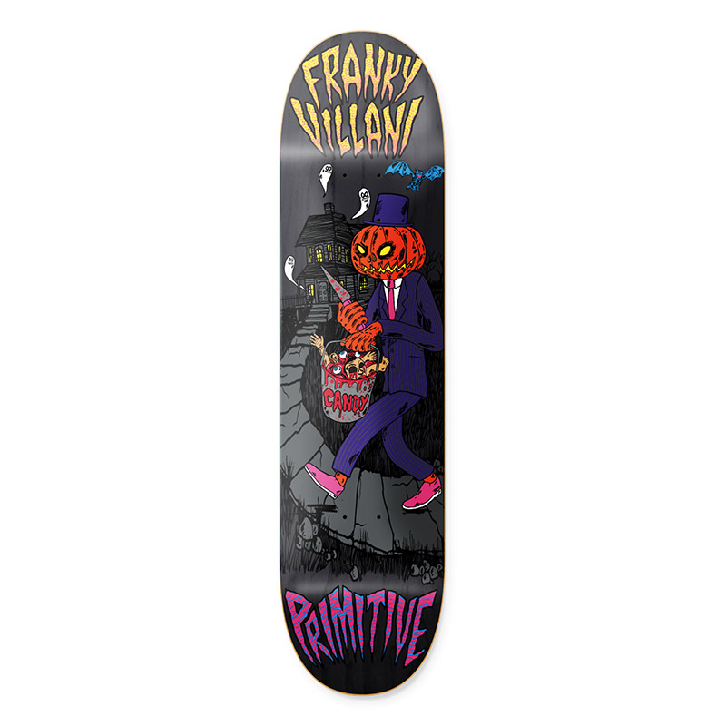 Primitive Villani Pumpkin Skateboard Deck Black 8.38