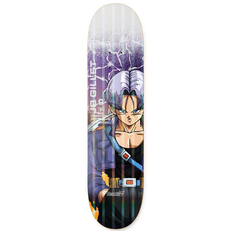 Primitive x DBZ Gillet Trunks Power Level Skateboard Deck Purple 8.0