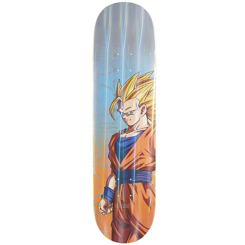 Primitive x DBZ Rodriguez Goku Power Level Skateboard Deck Blue 8.125