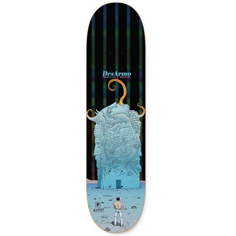 Primitive X Moebius Desarmo Major Tour Skateboard Deck Black 8.0