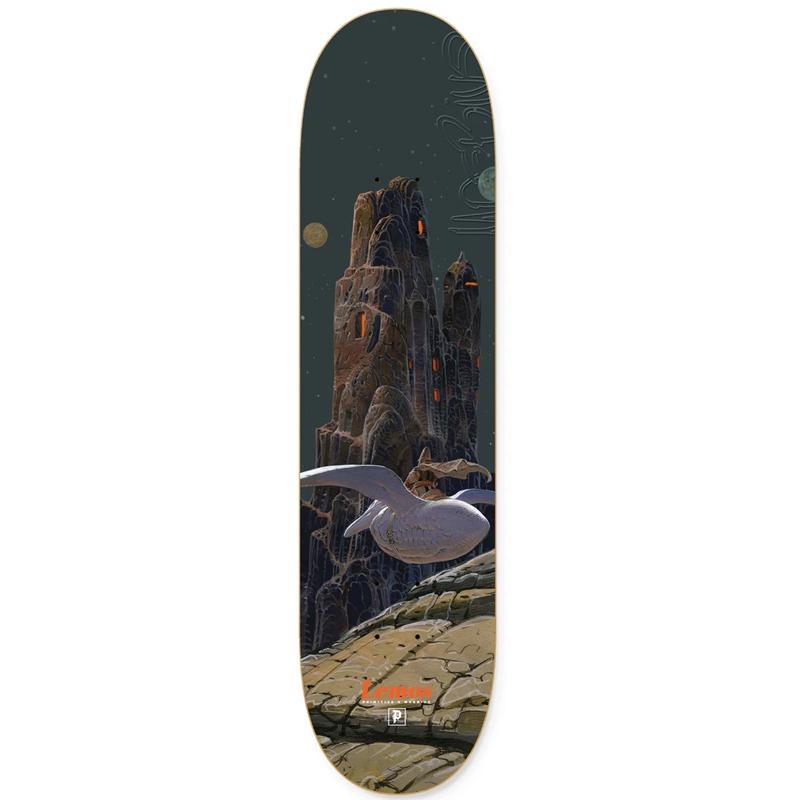 Primitive X Moebius Lemos Arzak Skateboard Deck Navy 8.5