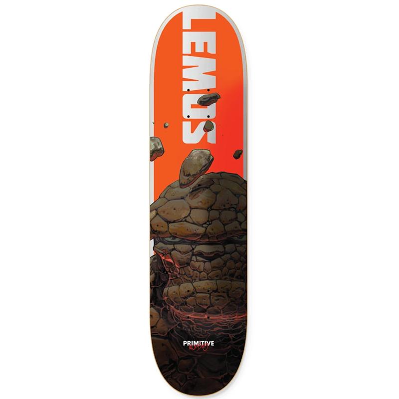 Primitive X Moebius Lemos The Thing Skateboard Deck Orange 8.0