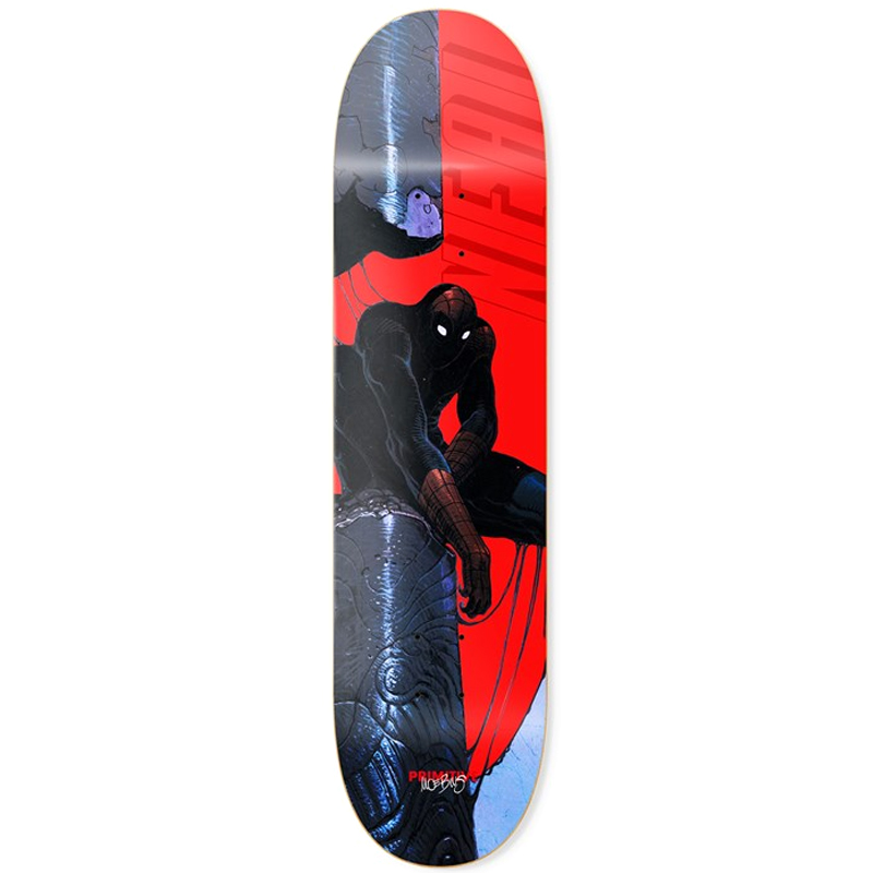 Primitive X Moebius Neal Spiderman Skateboard Deck Red 8.0