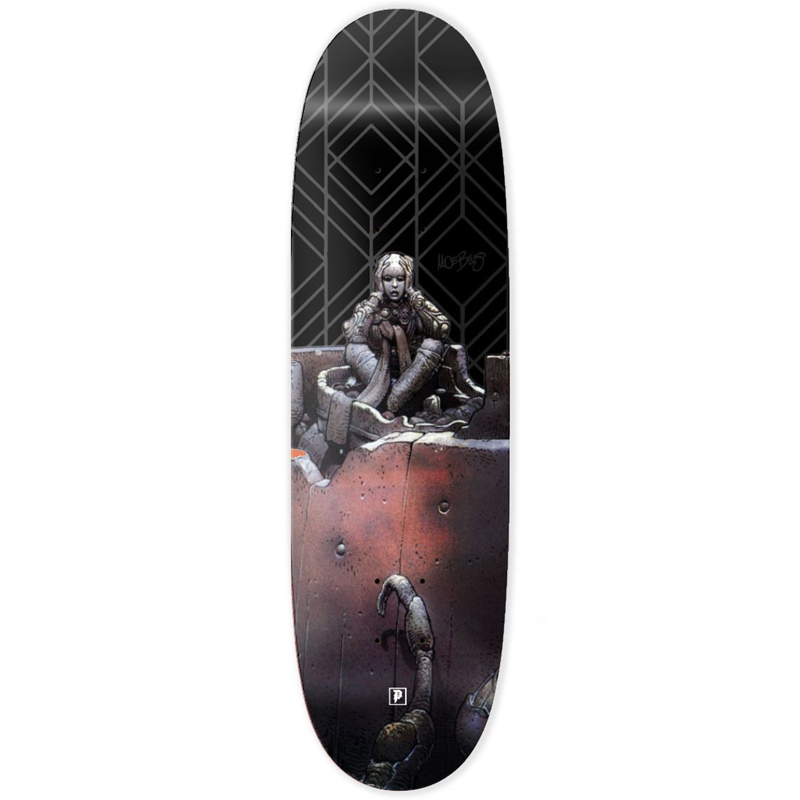 Primitive X Moebius Primitive Anxiety Man Skateboard Deck Black 9.125