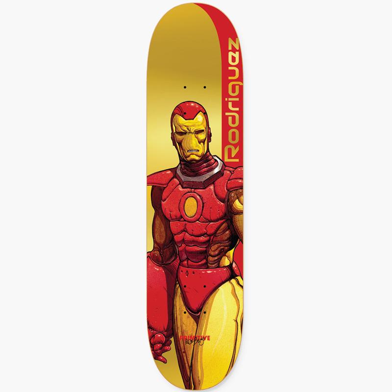 Primitive X Moebius Rodriguez Iron Man Skateboard Deck Gold 8.125