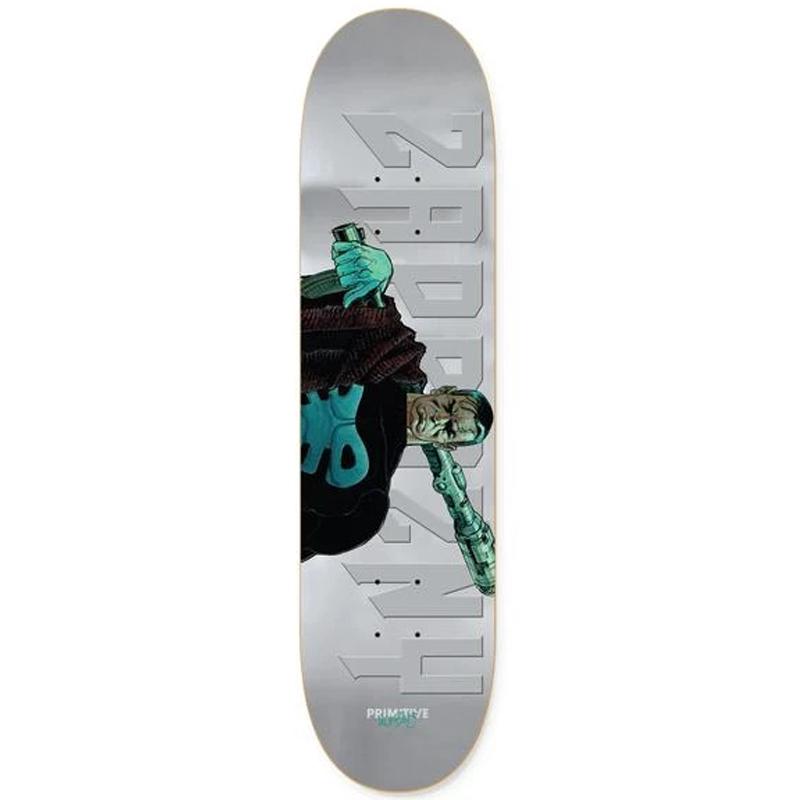 Primitive X Moebius Zaprazny Punisher Skateboard Deck Silver 8.25