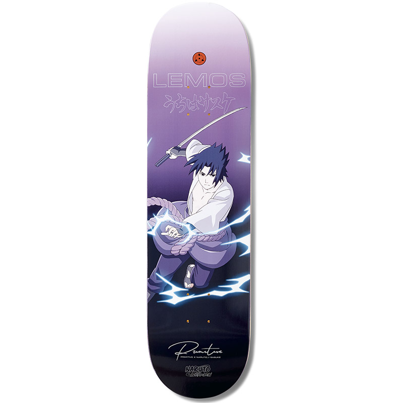 Primitive X Naruto Lemos Sasuke Skateboard Deck 8.125