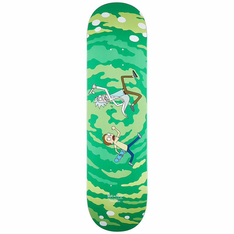 Primitive X Rick and Morty Portal Glow Skateboard Deck Multi 8.0