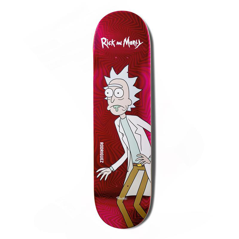 Primitive x Rick and Morty Rodriguez Rick Skateboard Deck Pink 8.0