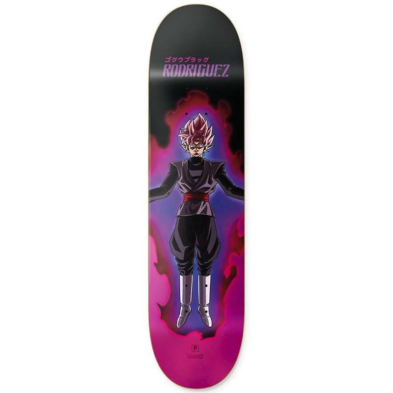 Primitive X Rodriguez Super Saiyan Rose Skateboard Deck Pink 8.25