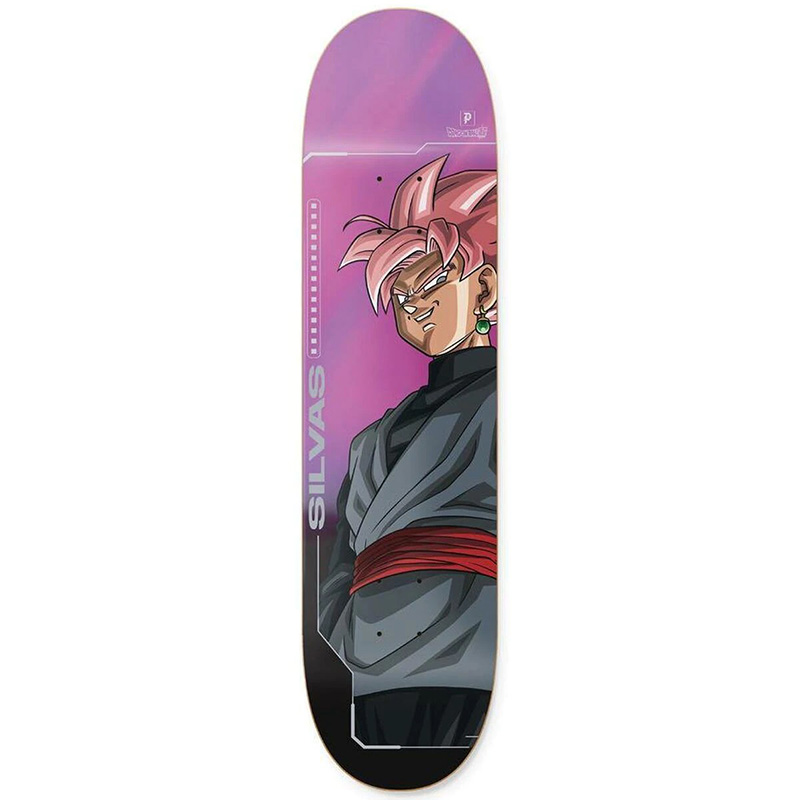 Primitive X Silvas Goku Black Skateboard Deck Purple 8.125