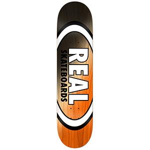 Real Angle Dip Oval Black/Orange Skateboard Deck 8125