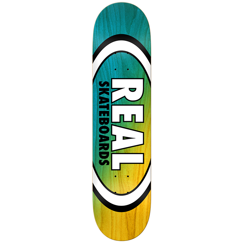 Real Angle Dip Oval Blue/Yellow Skateboard Deck 8.25