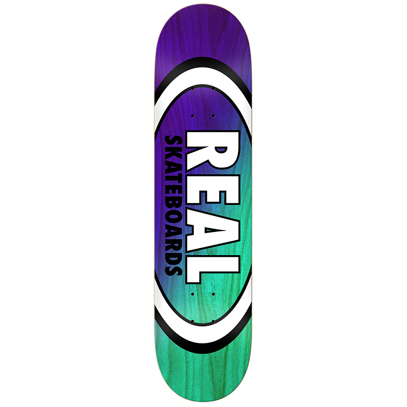 Real Angle Dip Oval Purple/Teal Skateboard Deck 8.38