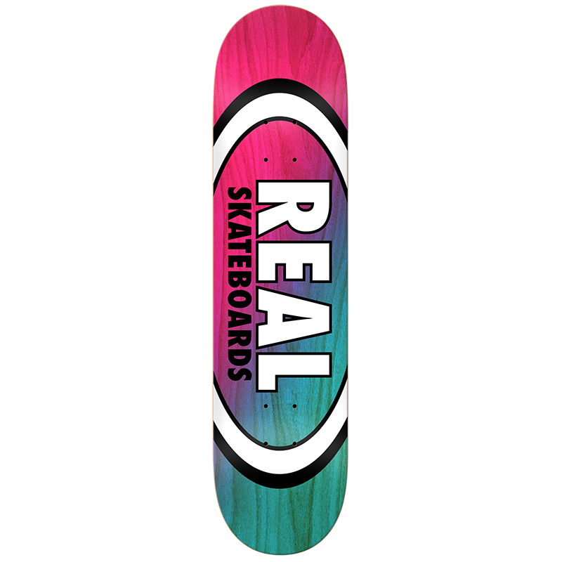 Real Angle Dip Oval Red/Lite Blue Skateboard Deck 8.5