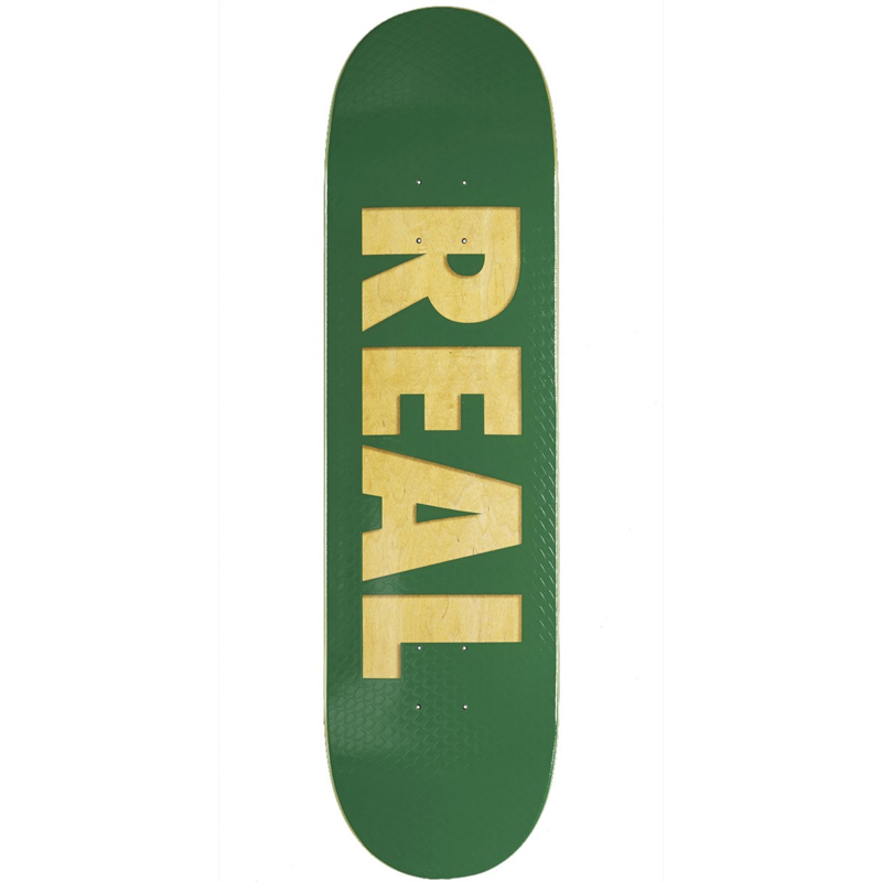 Real Bold Team Series Skateboard Deck Green 8.38