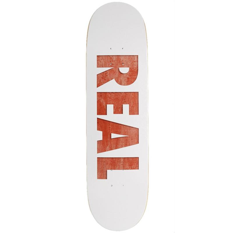 Real Bold Team Series Skateboard Deck White 8.5