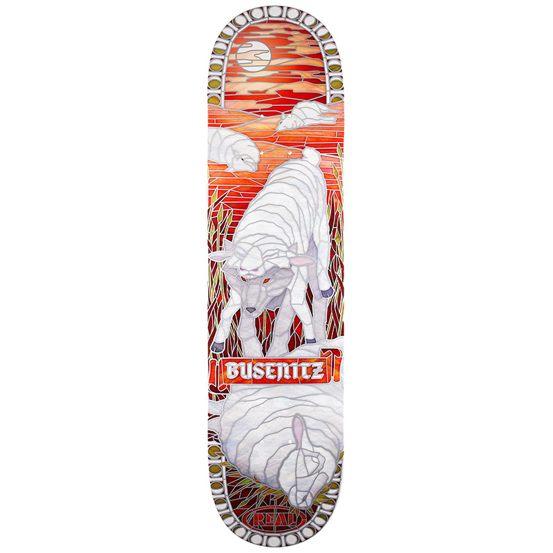 Real Busenitz Cathedral II Full Shape Skateboard Deck 8.06