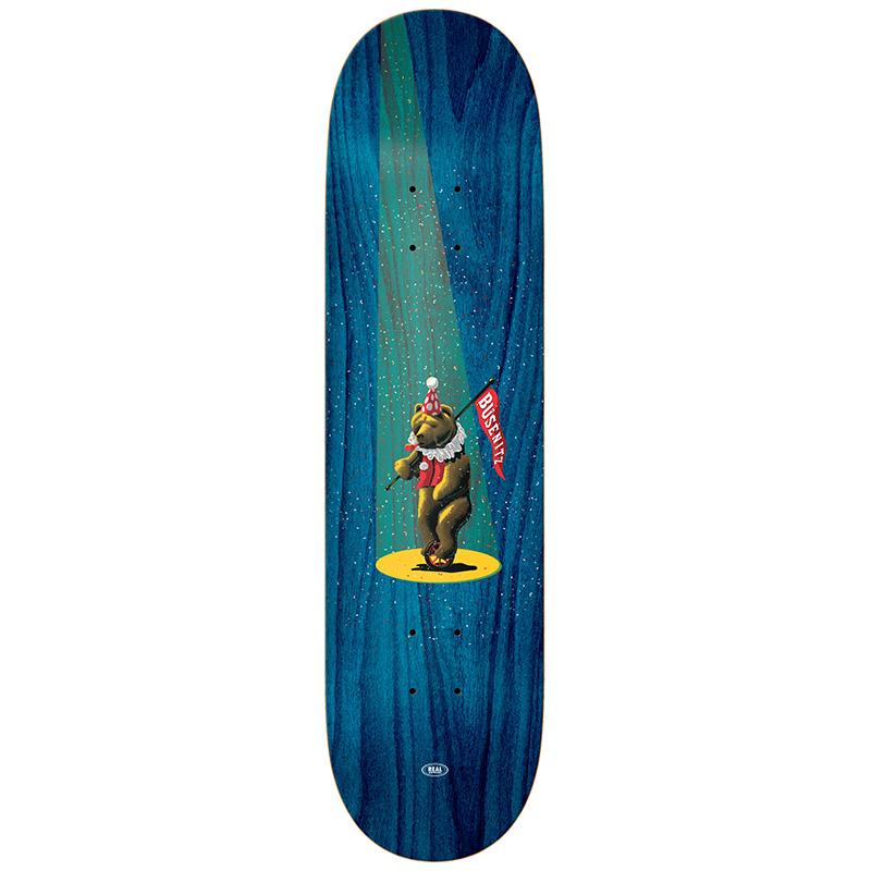 Real Busenitz Circus Bear Skateboard Deck 8.25