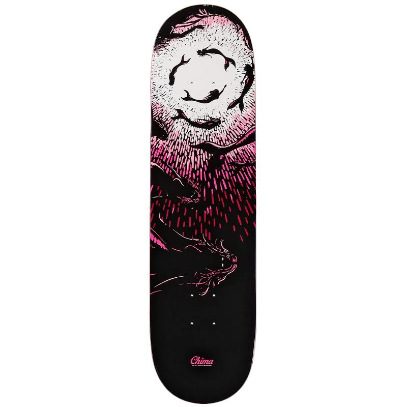 Real Chima Hammerhead Skateboard Deck Black 8.06 Full
