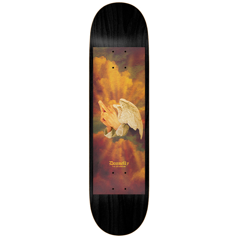 Real Donnelly Praying Fingers Skateboard Deck 8.06