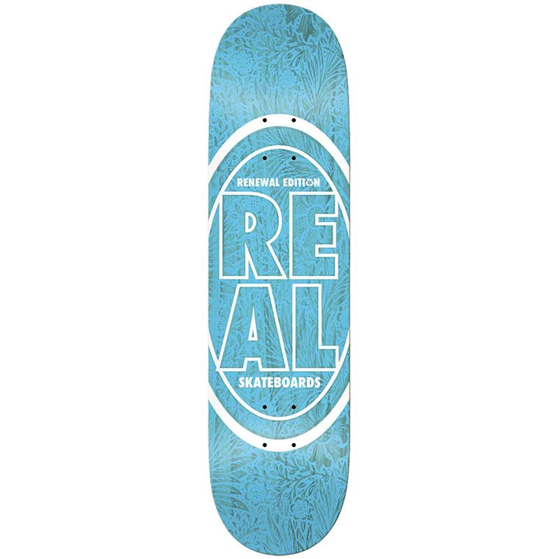 Real Floral PP Skateboard Deck Blue 8.25