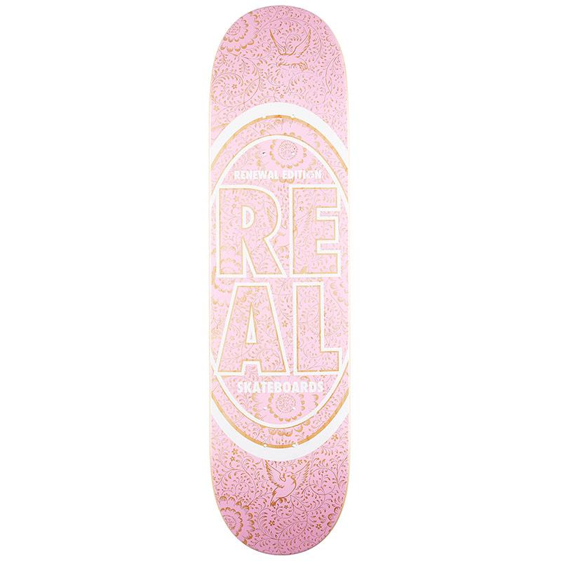 Real Floral PP Skateboard Deck Pink 8.06