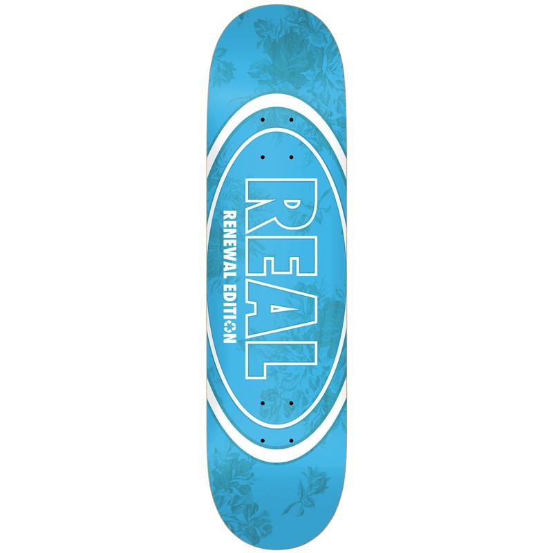 Real Floral Renewal II Skateboard Deck Blue 8.5