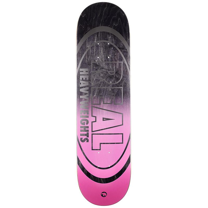 Real Heavyweight Black Bottom Skateboard Deck 8.5
