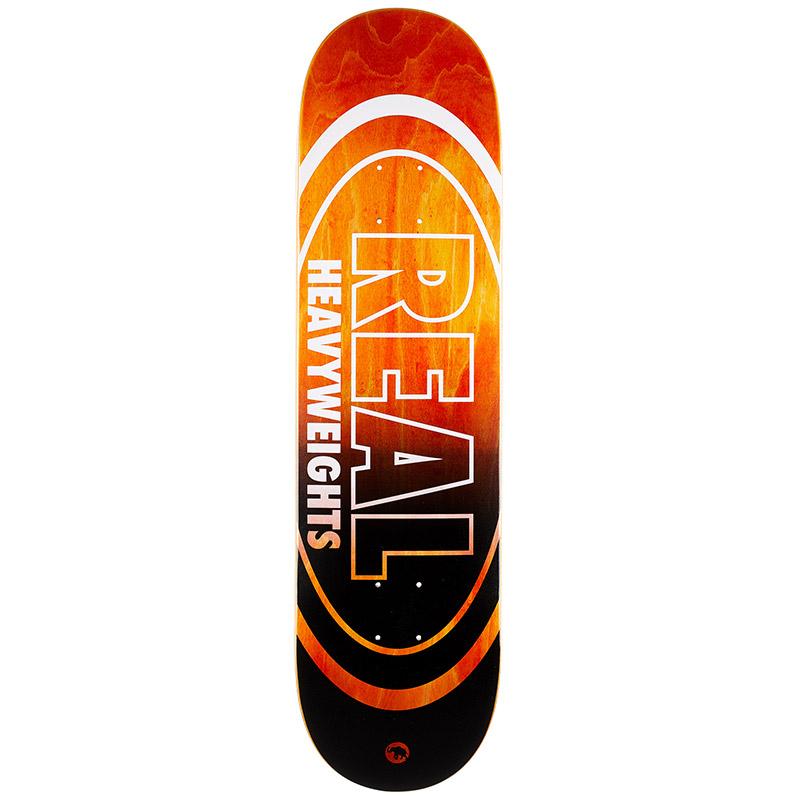 Real Heavyweight Orange Bottom Skateboard Deck 8.25