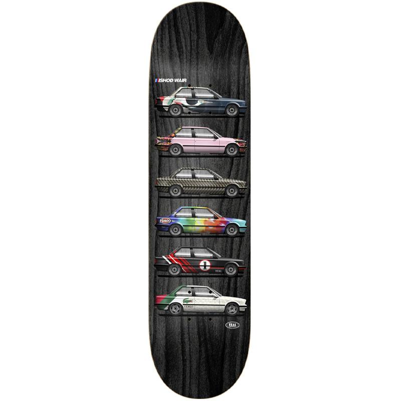 Real Ishod Customs Twin Tail Skateboard Deck Multi 8.0