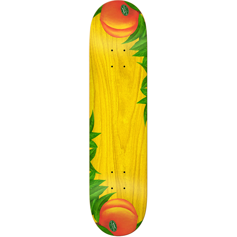 Real Ishod Just Peachy Twin Tail Skateboard Deck 8.0