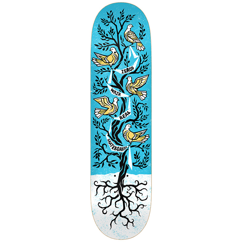 Real Ishod Wair Peace Tree Skateboard Deck 8.06