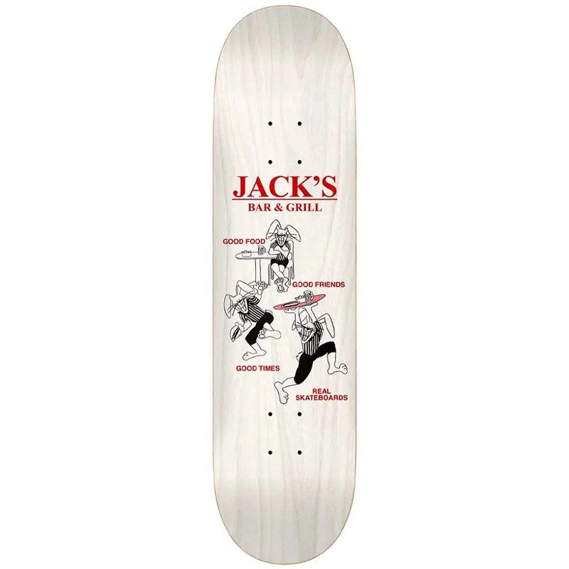Real Jack Good Times Skateboard Deck White 8.38