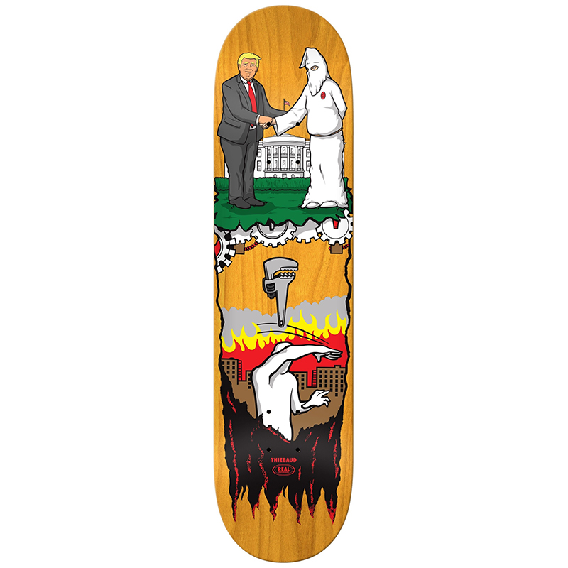 Real Jim Thiebaud Wrench Justice Skateboard Deck 8.25