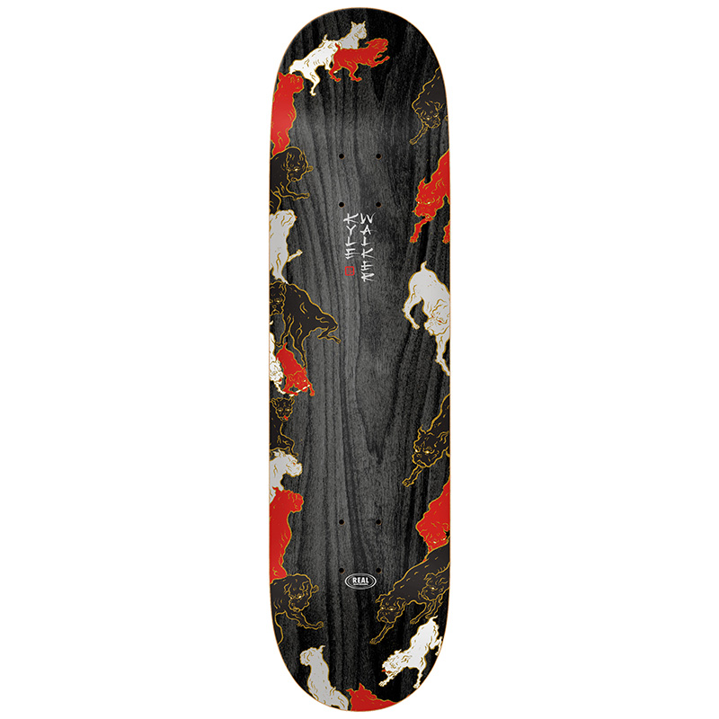 Real Kyle Rats Skateboard Deck Black 8.125
