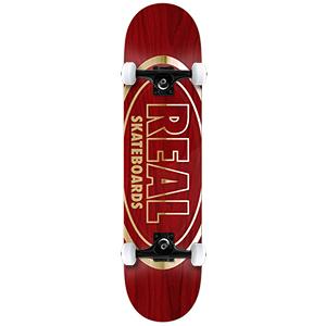Real Metallic Ovals Medium Complete Skateboard 7.75