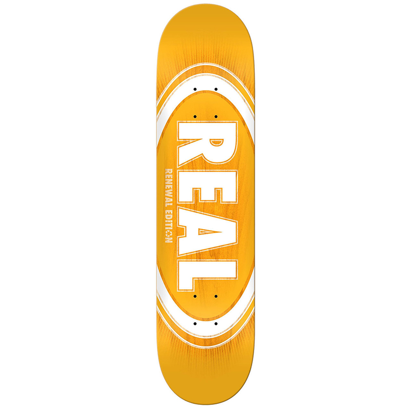 Real Oval Burst Fade Skateboard Deck 8.06