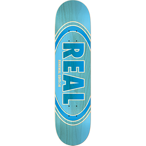 Real Oval Duo Fades Skateboard Deck Lt. Blue 8.5