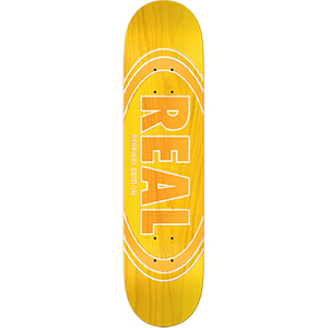 Real Oval Duo Fades Skateboard Deck Yellow 8.25