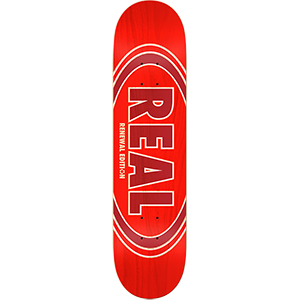 Real Oval Duo Fades Skateboard Decks Red 8.06