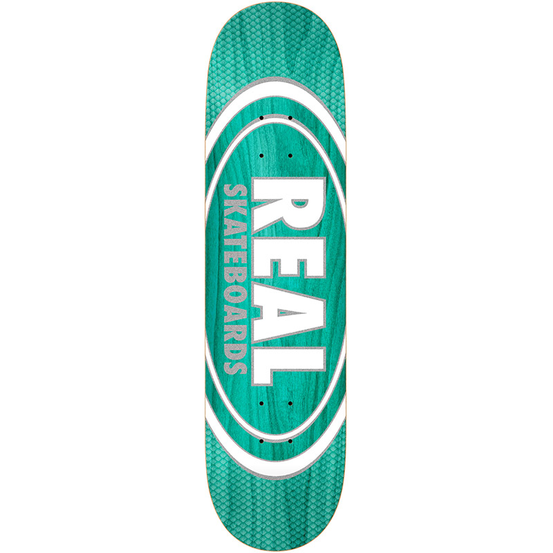 Real Oval Pearl Patterns Slick Skateboard Deck Assorted Veneers 8.25