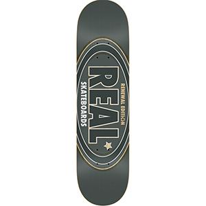 Real Oval Renewal Skateboard Deck Dark Grey 8.25