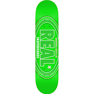 Real Oval Renewal Skateboard Deck Green 7.75